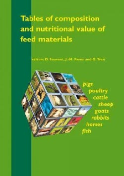 Tables Of Composition And Nutritional Value Of Feed Materials: Pigs, Poultry, Cattle, sheep, Goats, Rabbits, Hors... (Paperback)