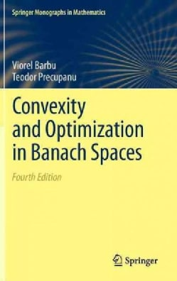 Convexity and Optimization in Banach Spaces (Hardcover)