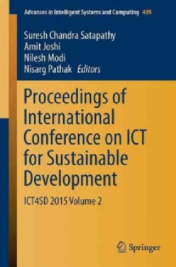 Proceedings of International Conference on Ict for Sustainable Development: Ict4sd 2015 (Paperback)