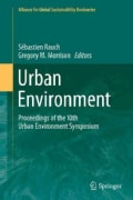 Urban Environment: Proceedings of the 10th Urban Environment Symposium (Paperback)