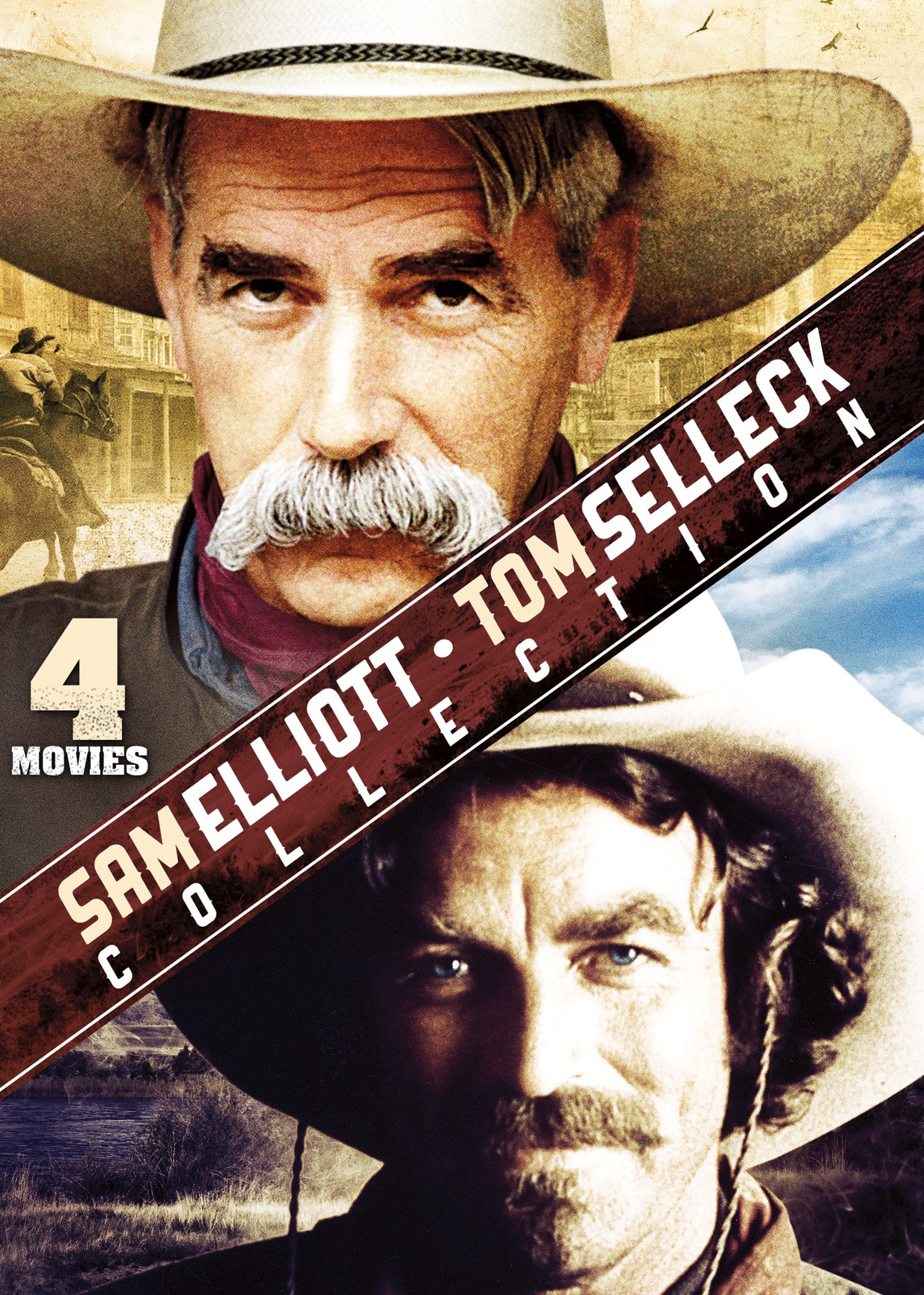 4-Film Western: Sam Elliott & Tom Selleck (DVD)