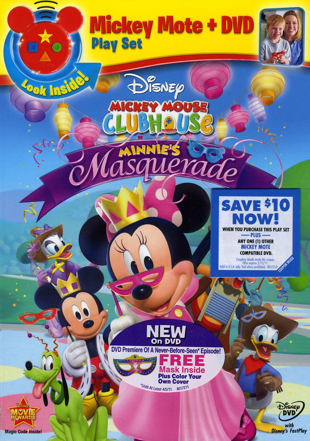 Mickey Mouse Clubhouse: Minnie's Masquerade - With Mickey Mote (DVD)