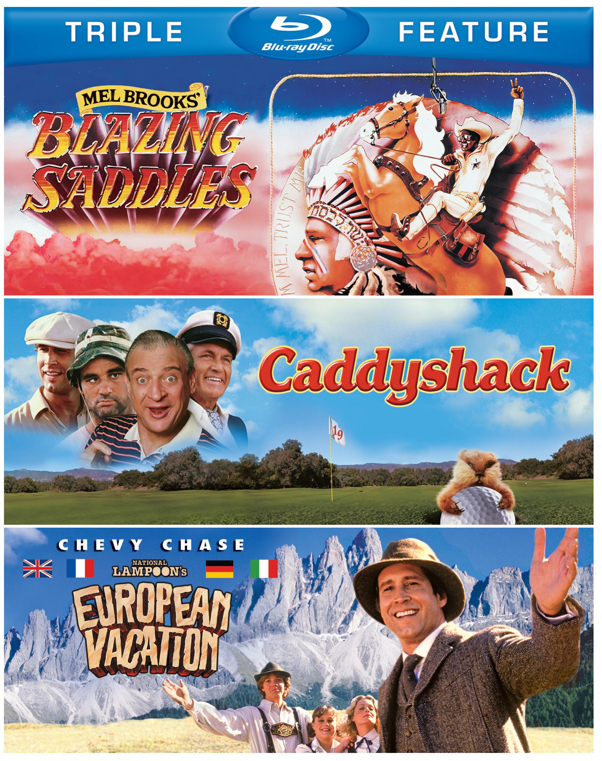 Blazing Saddles/Caddyshack/National Lampoon's European Vacation (Blu-ray Disc)