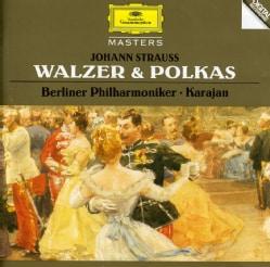 KARAJAN/BERLIN PHILHARMONIC ORCHESTRA - STRAUSS J: WALTZES & POLKAS