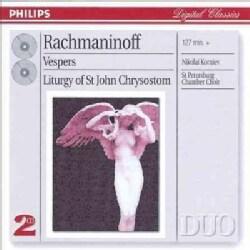 St. Petersburg Chamber Choir - Rachmaninov: Vespers, Etc.