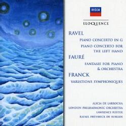 Alicia De Larrocha - Ravel: Piano Concerto in G Major/Faure: Fantasie for Piano & Orchestra]