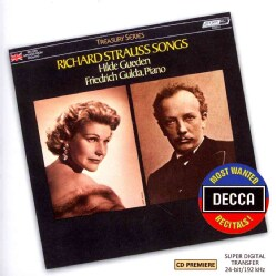 Hilde Gueden - Most Wanted Recitals!: Richard Strauss Songs
