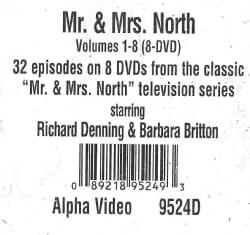 Mr. & Mrs. North: Vols. 1-8 (DVD)