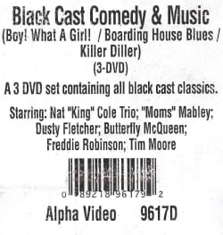 Black Cast Comedy & Music (Boy! What a Girl!/Boarding House Blues/Killer Diller) (DVD)