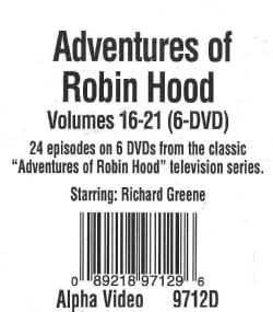 The Adventures Of Robin Hood: Vols. 16-21 (DVD)