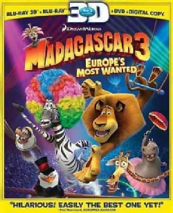 Madagascar 3: Europe's Most Wanted 3D (Blu-ray/DVD)
