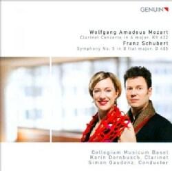 Collegium Musicum - Mozart/Schubert: Mozart Clarinet Concert KV 622; Schubert Symphony No 5 D 485