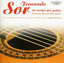 Cristiano Porqueddu - Sor: 20 Studies for Guitar