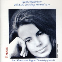 JEANNE BAXTRESSER - JEANNE BAXTRESSER DEBUT SOLO RECORDING MONTREAL 19