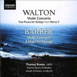 Malmo Opera Orchestra - Walton/Barber: Violin Concertos