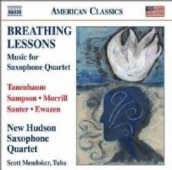 New Hudson Saxophone Quartet - Breathing Lessons: Music for Saxophone Quartet