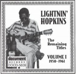 Lightnin' Hopkins - Lightnin Hopkins: Vol. 1: 1950-1961