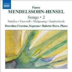 Dorothea Craxton - Mendelssohn-Hensel: Songs, Vol. 2