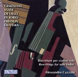 Alessandro Cazzato - Rewritings for Solo Violin