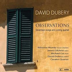 Cavaleri Quartet - Dubery: Observations: 17 Songs and a String Quartet