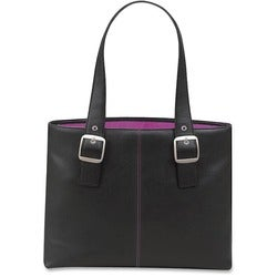 Solo Classic 16-inch Laptop Tote w/Pink Interior Lining