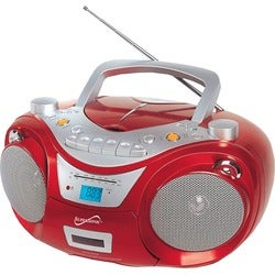 Supersonic Portable MP3/CD Player with USB/AUX Inputs, Cassette Recor