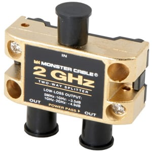 Monster Cable TGHZ-4RF MKII 4-Way Two Gigahertz Low-Loss RF Splitters