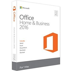 Microsoft Office 2016 Home & Business - 1 Mac - Medialess
