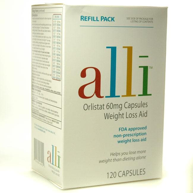 Alli Orlistant Weight Loss Aid 120 Capsules