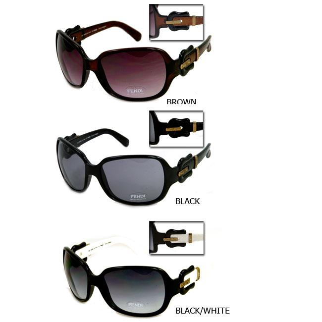 cbb3a6e308 Shop Fendi FS 384 Women s Oversized Sunglasses - Free Shipping Today -  Overstock - 3367228