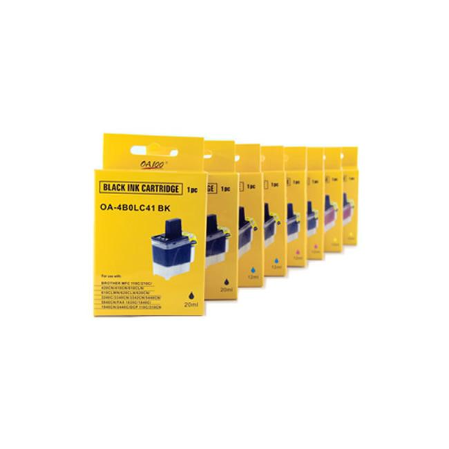 Ink Cartridge Combo for Brother LC41 (Pack of 8)