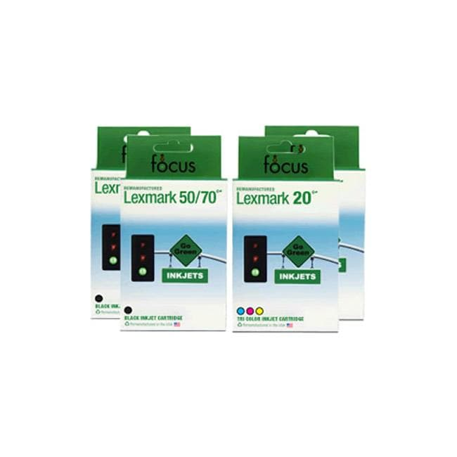 Lexmark 50 & 20 4-pack Combo Ink Cartridge (Remanufactured)