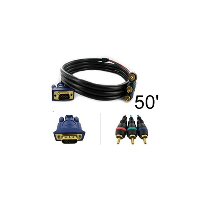 VGA to Three-RCA 50-foot Component Video Cable