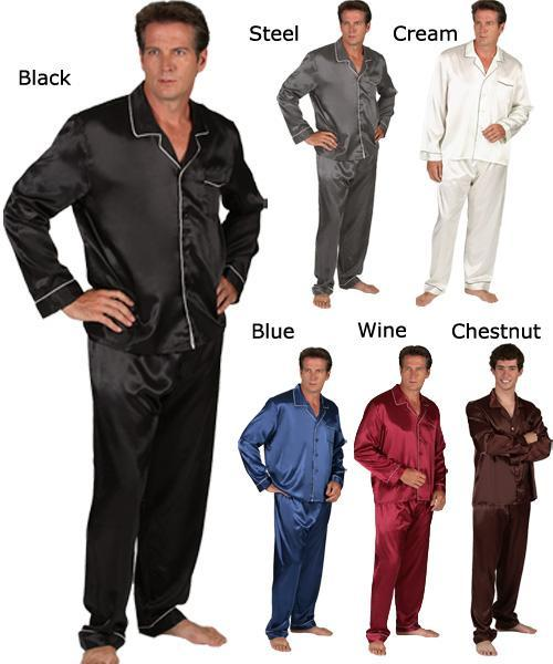Men's Classic 2-piece Satin Pajama Set - Free Shipping On Orders ...
