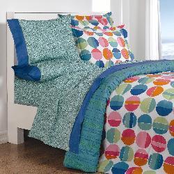 Shop Vega Modern Circles All Cotton Twin Bedding Ensemble