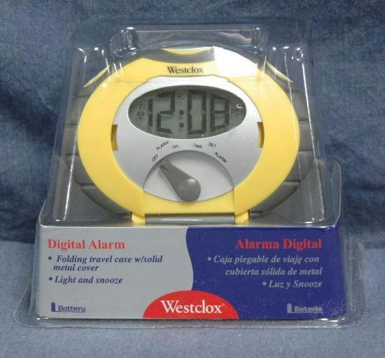 Westclox Trek Digital Lcd Yellow Alarm Clock Free
