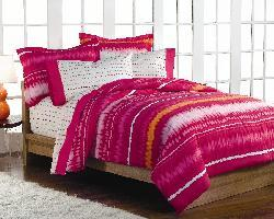 Pink Tie-dye Queen-size Bedding Ensemble