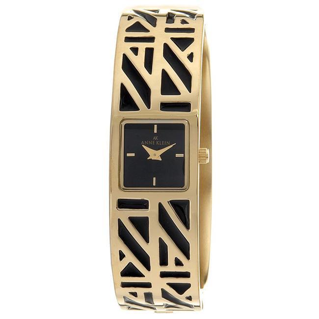 c0de42002 Shop AK Anne Klein Women's Black Enamel Cuff Bracelet Watch - Free Shipping  On Orders Over $45 - Overstock - 3613986