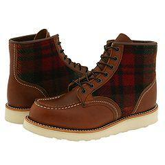 Red Wing Shoes Lumberjack Original Leather With Woolrich Fabric