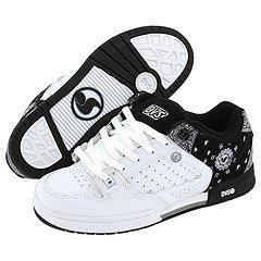 DVS Shoe Company Militia White/Black Leather Bandana