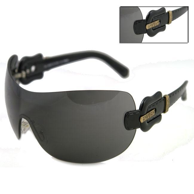 69907fd7f1c Shop Fendi FS 432 Shield Oversized Women s Sunglasses - Free Shipping Today  - Overstock - 3641003