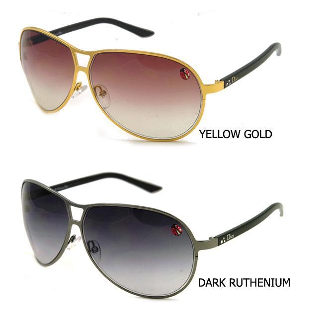35dc86bd6df Shop Christian Dior Tiny Ladybug Metal Aviator Sunglasses - Free Shipping  Today - Overstock - 3657281