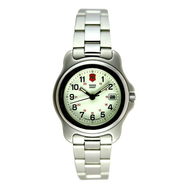 swiss army officers 39 men 39 s small steel watch free