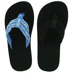 Reef Women S Sandy Black Mid Blue White Flip Flop Sandals