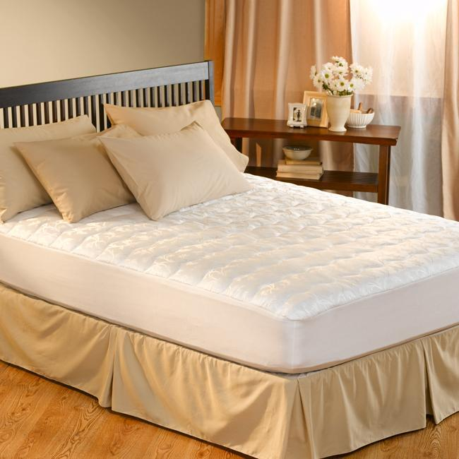 Dorm Sized Twin Xl Antimicrobial Pillow Top Mattress Pad