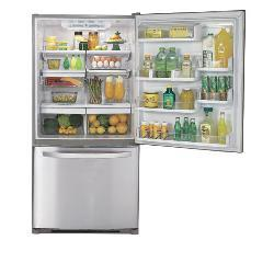 LG 22-cubic-foot Stainless Steel Refrigerator - Thumbnail 1