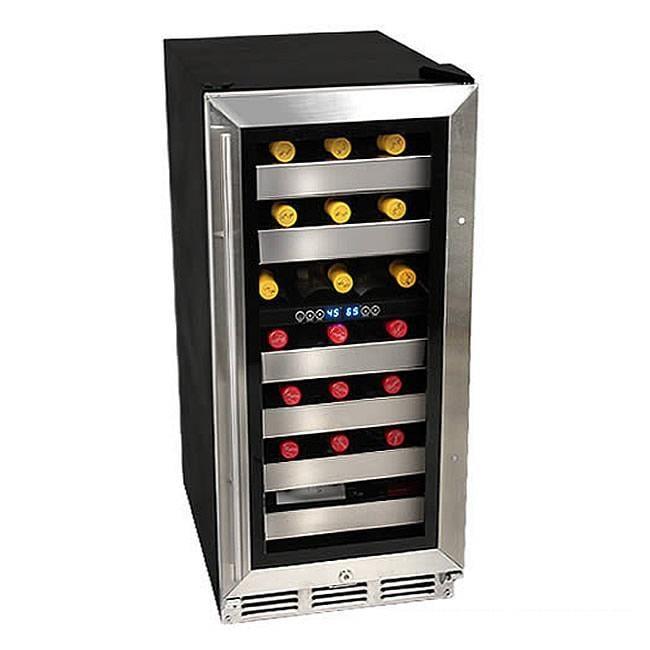 EdgeStar 26-bottle Built-in Dual Zone Wine Cooler