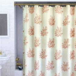 Shop Coral Shower Curtain Free Shipping On Orders Over