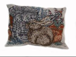 Resting Rabbit Tapestry Throw Pillows (Set of 2)