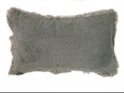 Mohair Jade Throw Pillows (Set of 2) - Thumbnail 2
